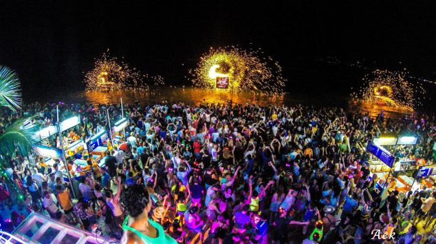 Full Moon Party Haad Rin Koh Phangan Thailand