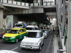 Normal bangkok traffic, not even close to a traffic jam.